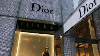Dior Parfum: Eingang einer Dior-Boutique